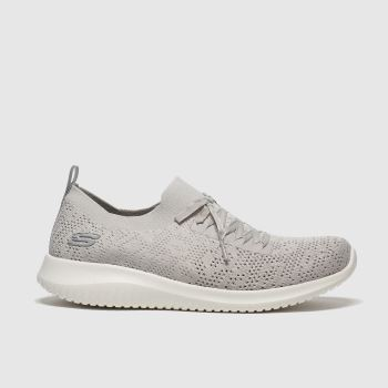 SKECHERS Grey Ultra Flex Windy Sky Womens Trainers