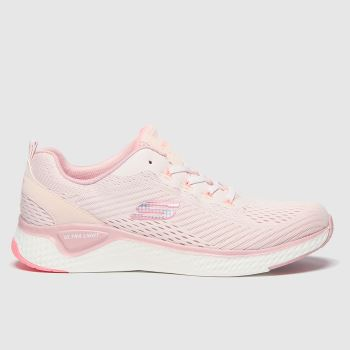 Skechers Pale Pink Solar Fuse Cosmic View c2namevalue::Womens Trainers