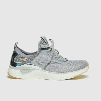SKECHERS Grey Solar Fuse Gravity Exper Womens Trainers