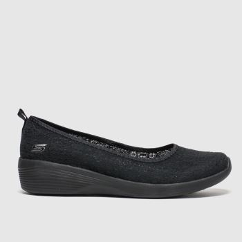 Skechers Black Arya Airy Days c2namevalue::Womens Trainers