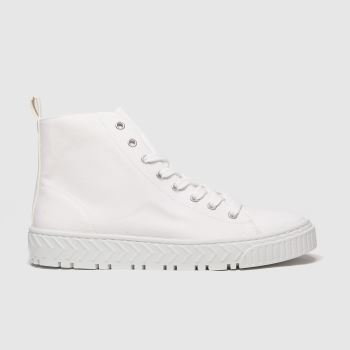 schuh White Marley Hi Top Womens Trainers