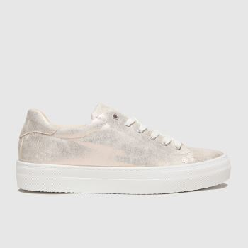 schuh Gold Mae Lace Up Womens Trainers#