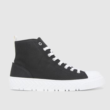 schuh Black Marci Hi Top Lace Up Womens Trainers