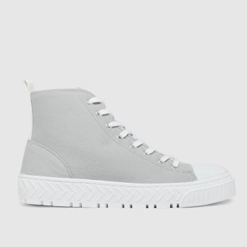 schuh Grey Marci Hi Top Lace Up Womens Trainers