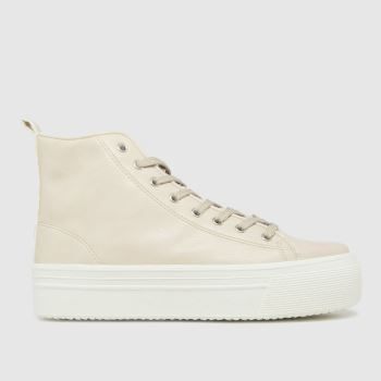 schuh Natural Mattie Chunky Hi Top Womens Trainers