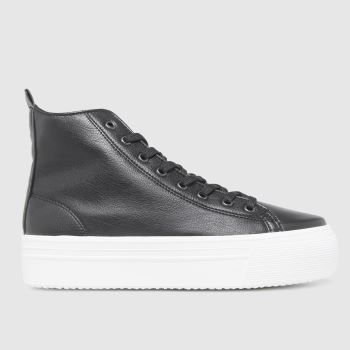 schuh Black Mattie Chunky Hi Top Womens Trainers
