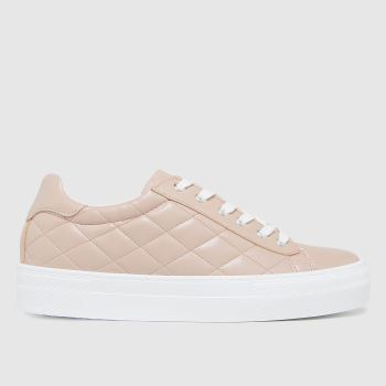 schuh Natural Melanie Padded Lace Up Womens Trainers