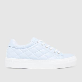 schuh Blue Melanie Padded Lace Up Womens Trainers