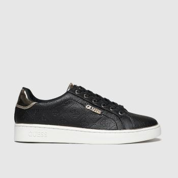 Guess Black & Gold Beckie Womens Trainers