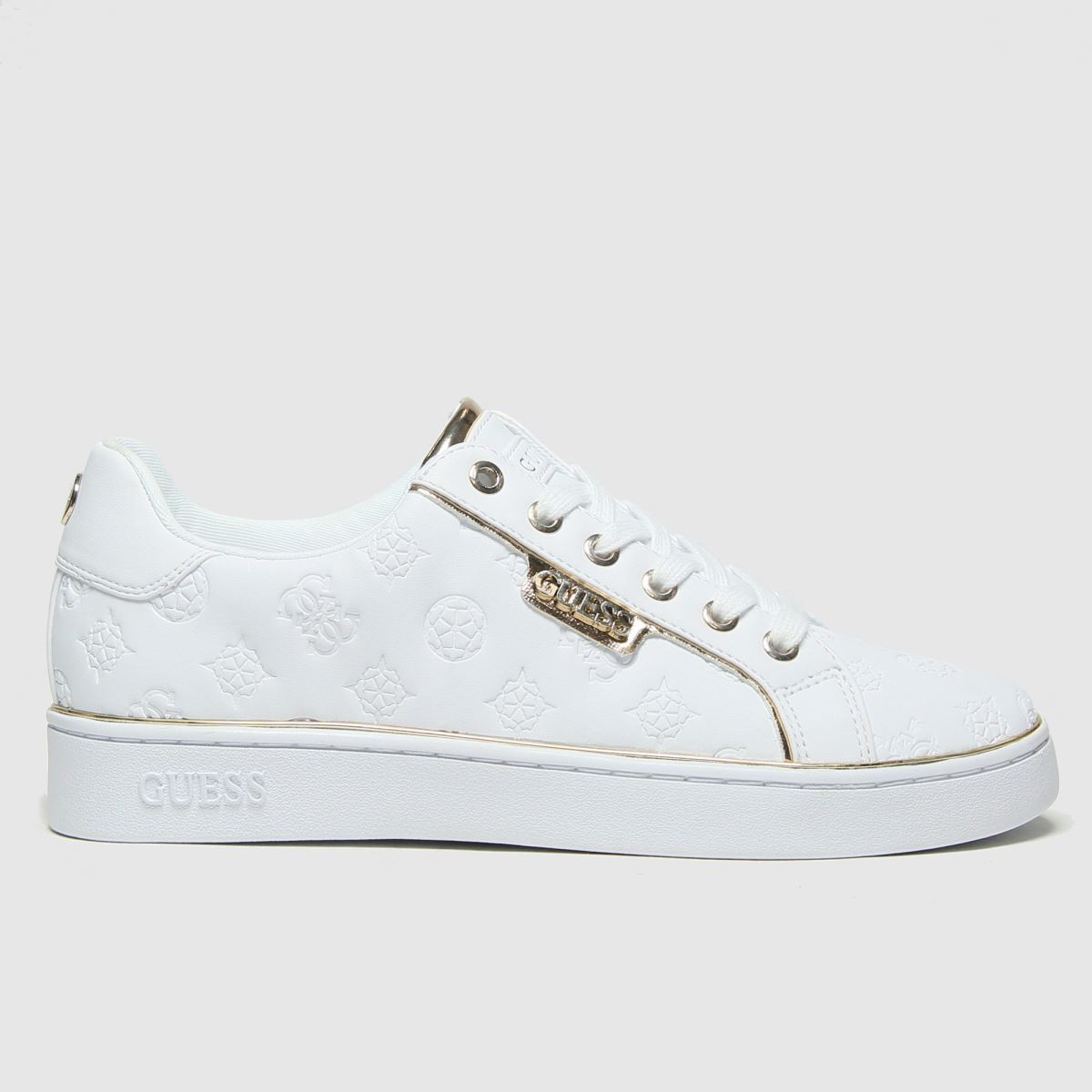 GUESS White Banq Trainers