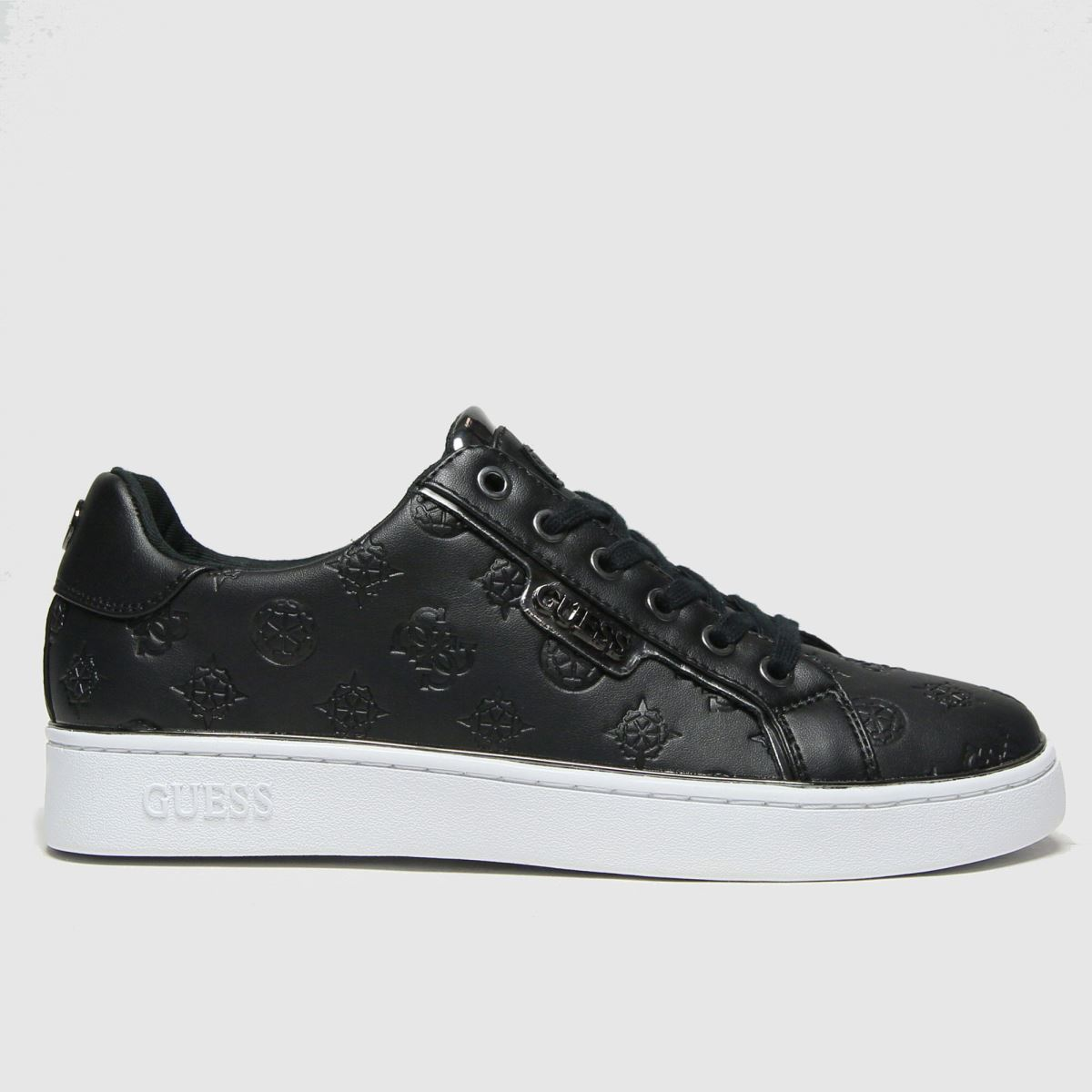 GUESS Black & Silver Banq Trainers
