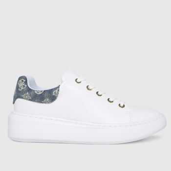 GUESS White Bradly 2 Womens Trainers