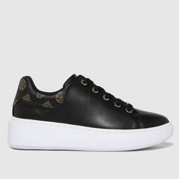 GUESS Black & Gold Bradly2 Womens Trainers