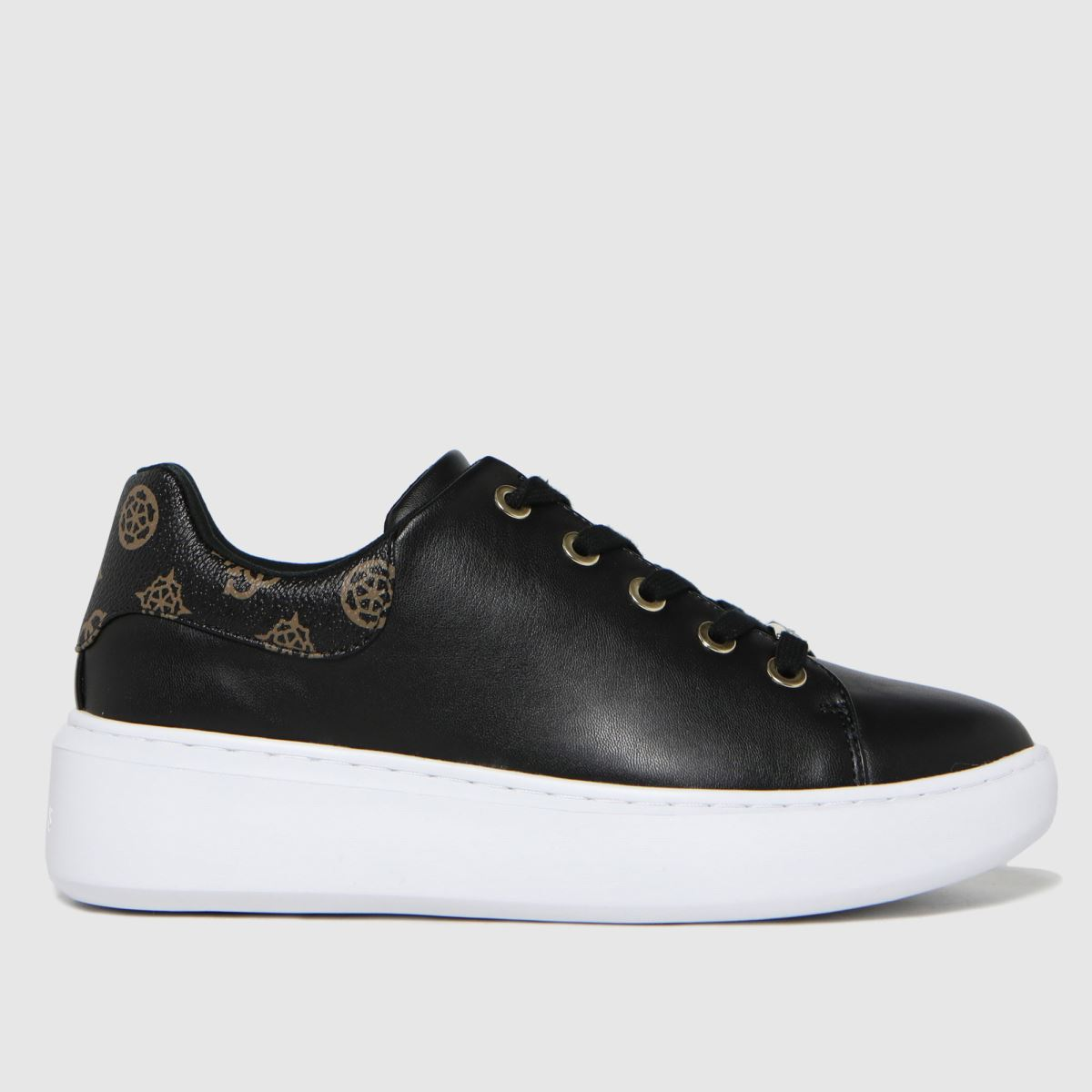 GUESS Black & Gold Bradly2 Trainers