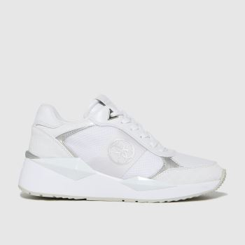 GUESS White Tesha Womens Trainers