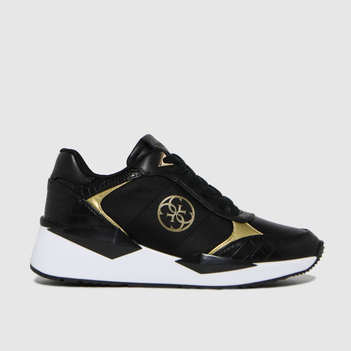 GUESS Black & Gold Tesha Trainers
