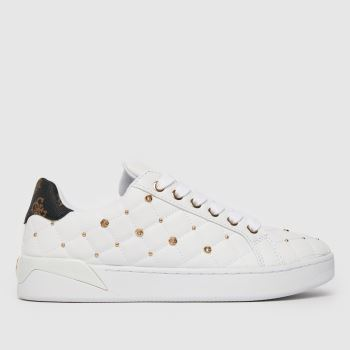 GUESS White Reea Trainer Womens Trainers