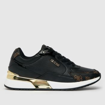 GUESS Black & Brown Moxea Trainer Womens Trainers