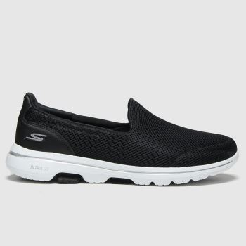 SKECHERS Black & White Go Walk 5 Womens Trainers