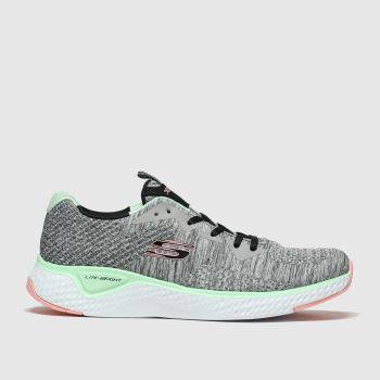Skechers Grey Solar Fuse Brisk Escape Trainers