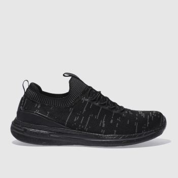 SKECHERS BLACK & GREY BURST 2.0 TRAINERS