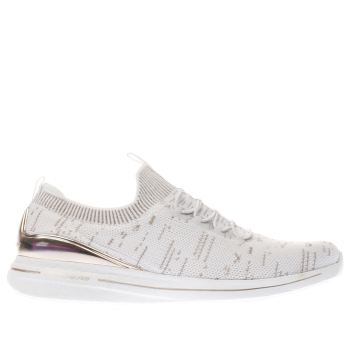 SKECHERS WHITE & GOLD BURST 2.0 TRAINERS