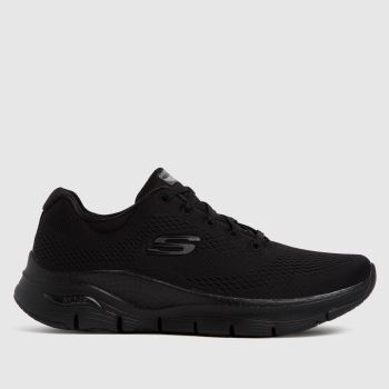 SKECHERS Black Arch Fit Big Appeal Womens Trainers