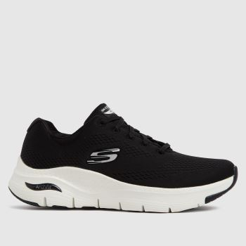 SKECHERS Black & White Arch Fit Big Appeal Womens Trainers