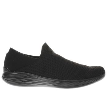 SKECHERS BLACK YOU TRAINERS
