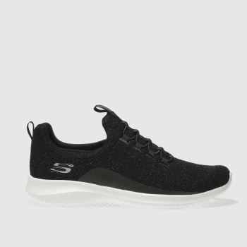 Skechers Black Skech Ultra Flex Womens Trainers