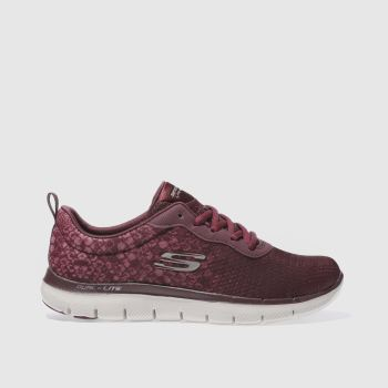 Skechers Burgundy Flex Appeal 2.0 In Focus Womens Trainers