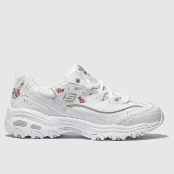 Skechers White Dlites Bright Blossoms Womens Trainers