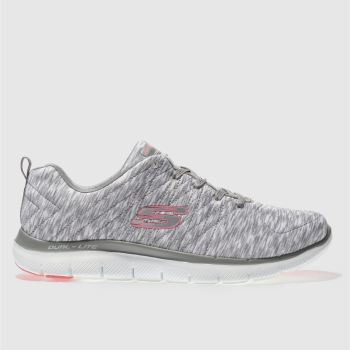 Skechers Grey Flex Appeal 2.0 Reflection Womens Trainers
