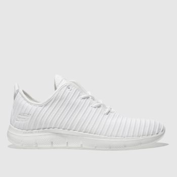 Skechers White Flex Appeal 2.0 Estates Womens Trainers