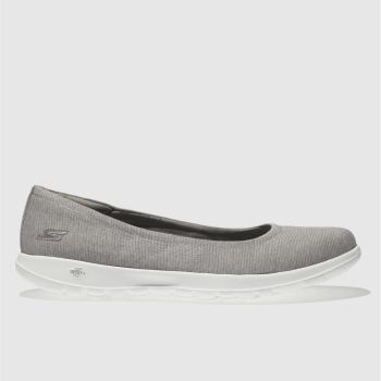 Skechers Grey Go Walk Lite Enamored Womens Trainers