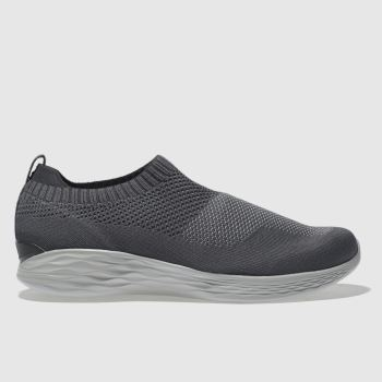 Skechers Dark Grey You Pure Womens Trainers