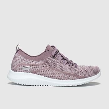 SKECHERS Lilac Ultra Flex Statements Womens Trainers