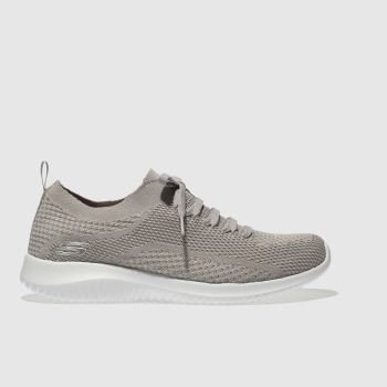 Skechers Beige Ultra Flex Statements Womens Trainers