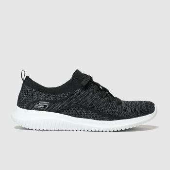 Skechers Black & Grey Ultra Flex Statements Womens Trainers