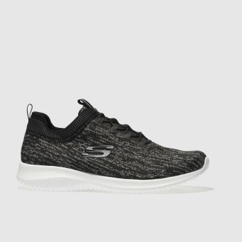 Skechers Black & Grey Ultra Flex Bright Womens Trainers