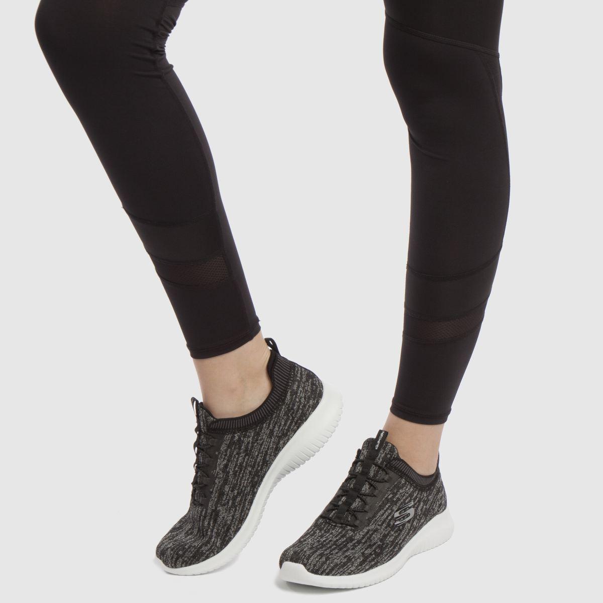 Damen Schwarz-grau skechers Ultra Flex Bright Sneaker | schuh Gute Qualität beliebte Schuhe