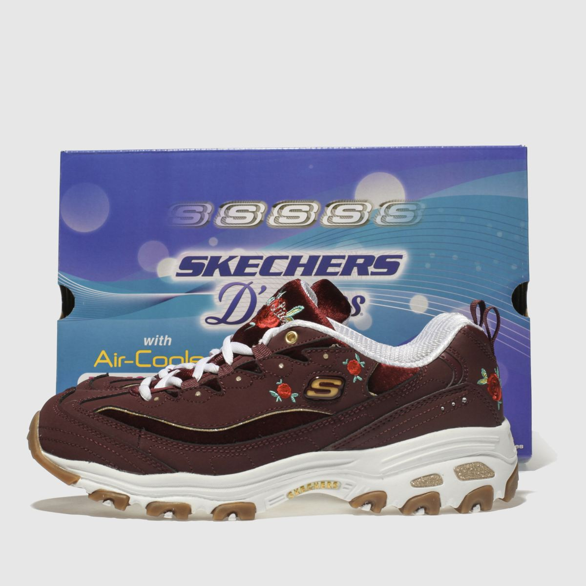 Damen Weinrot skechers Dlites Sneaker | Schuhe schuh Gute Qualität beliebte Schuhe | 1b27c5