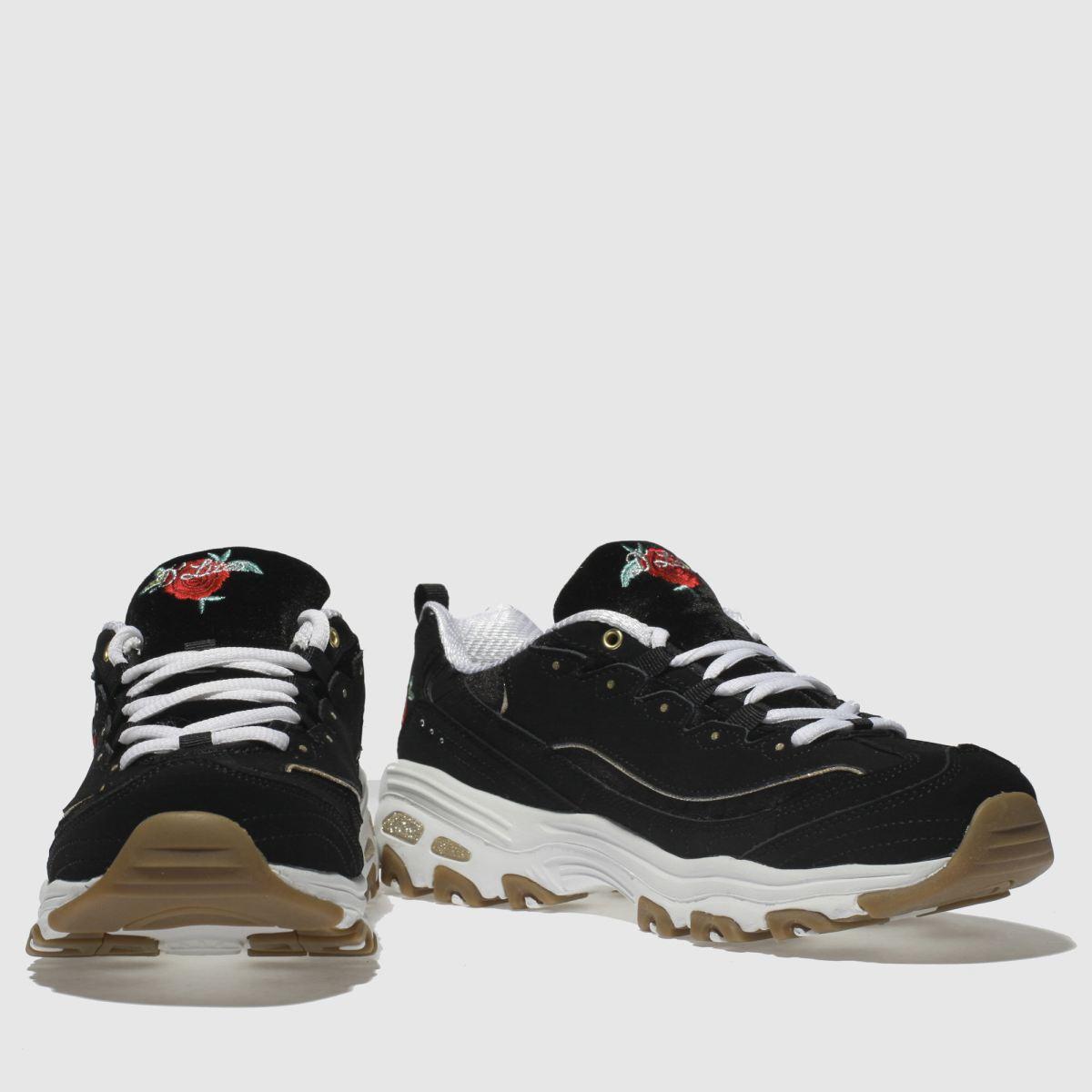 Damen schuh Schwarz-weiß skechers Dlites Sneaker | schuh Damen Gute Qualität beliebte Schuhe a1dc92