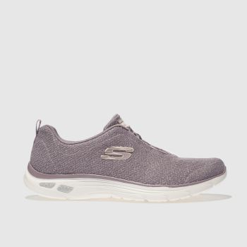 SKECHERS LILAC EMPIRE DLUX TRAINERS