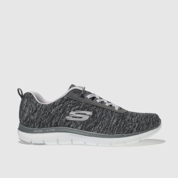SKECHERS DARK GREY FLEX APPEAL 2.0 TRAINERS