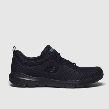 Skechers Black Flex Appeal 3.0 Trainers