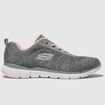 Skechers Grey Flex Appeal 3.0 Womens Trainers#