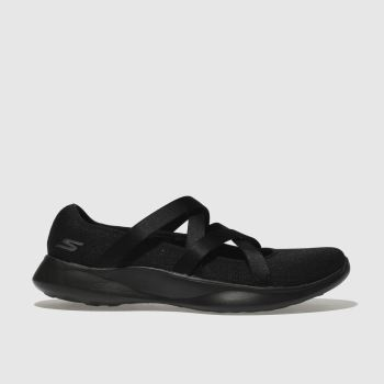 skechers black you serene slip trainers