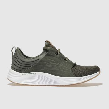Skechers Khaki Skyline Womens Trainers
