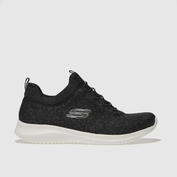 Skechers Black & White Ultra Flex Womens Trainers